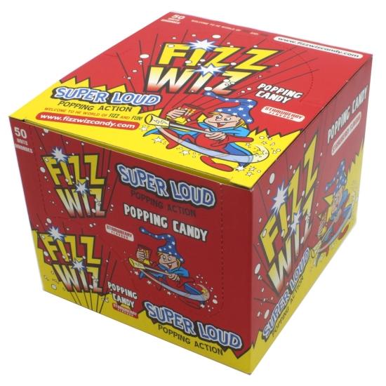 Fizz Wiz Strawberry Popping Candy - Case of 50